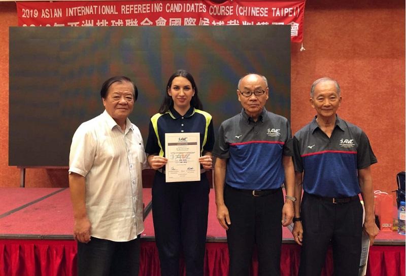 Судья РК получила сертификат Азиатской конфедерации волейбола