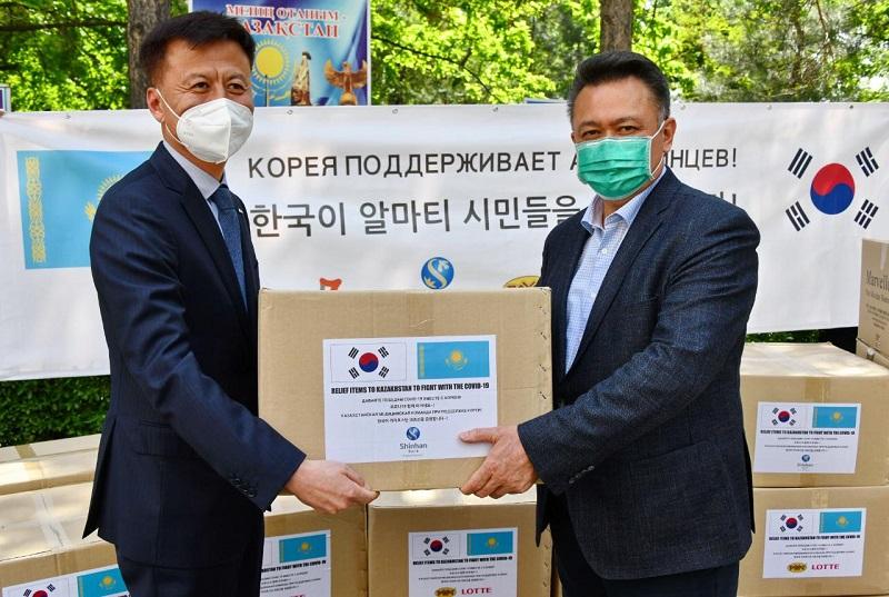 На $45 тысяч акимату Алматы оказали гуманитарную помощь южнокорейские компании