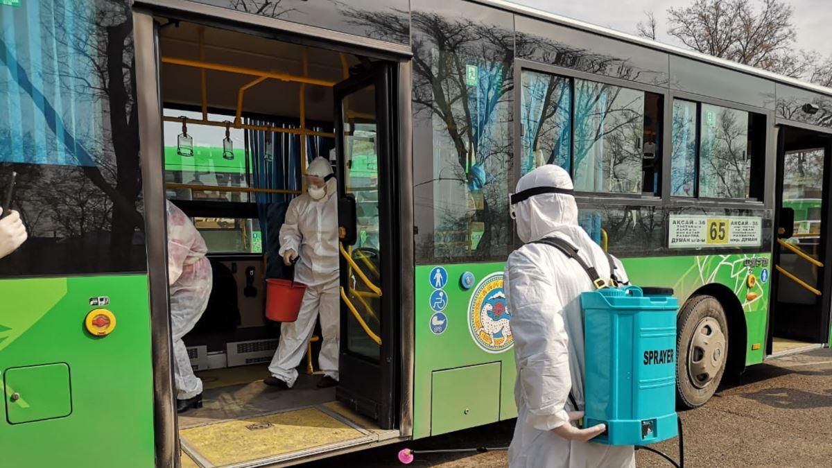 Как в Алматы идут работы по дезинфекции?