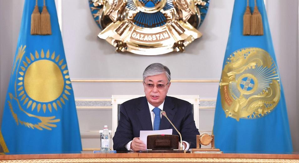 Глава государства заслушал доклад министра внутренних дел Ерлана Тургумбаева