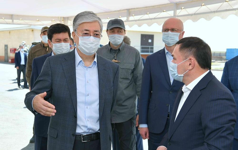 Касым-Жомарт Токаев  посетил ТОО Astana Ceramic