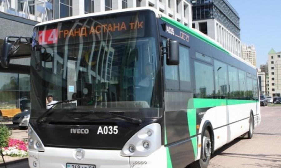 Елордалық автобустар бұдан былай күніне екі рет дезинфекцияланады
