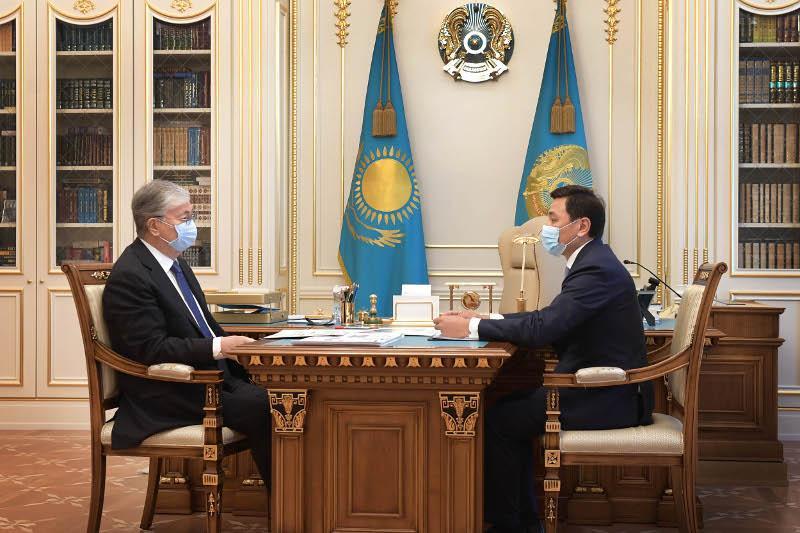Глава государства принял акима столицы Алтая Кульгинова