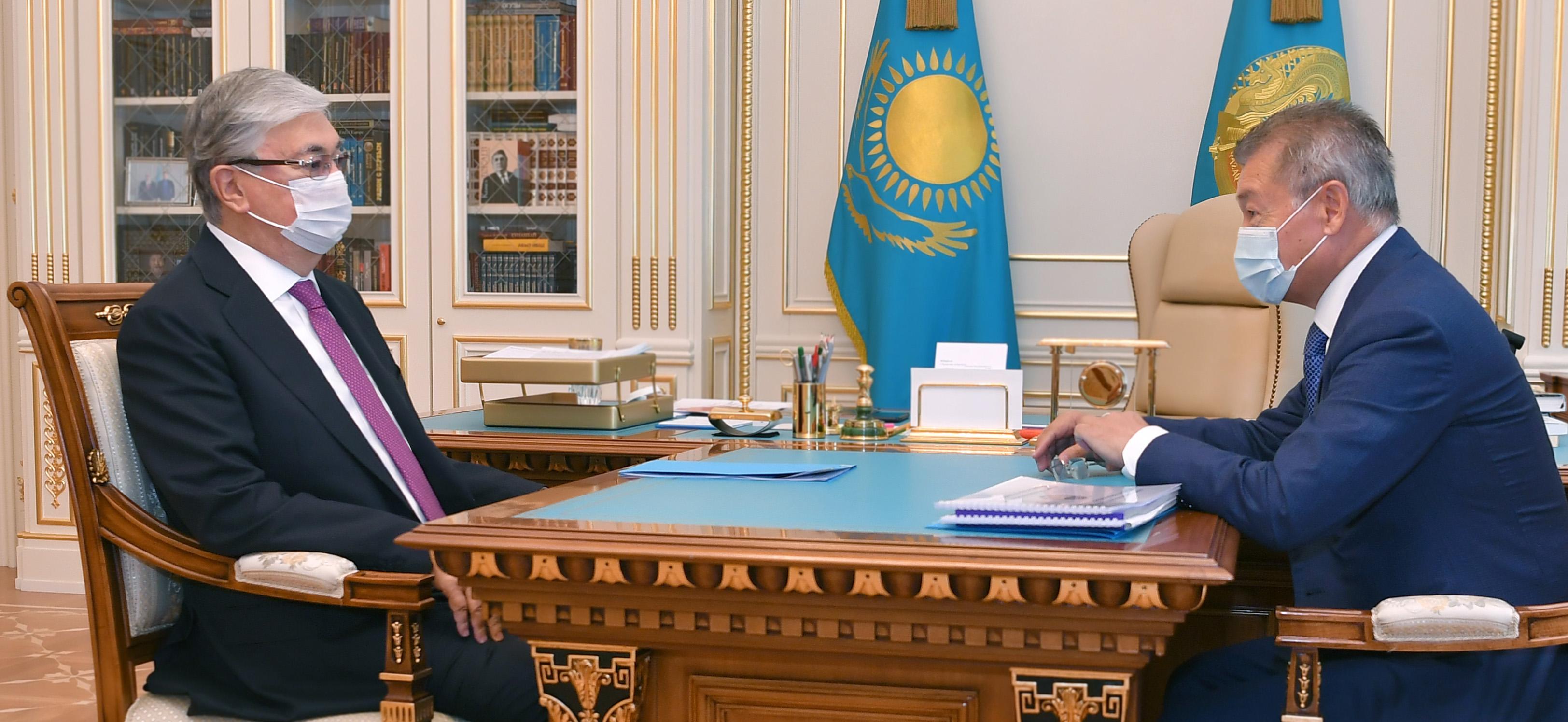 Президент Шығыс Қазақстан облысының әкімі Даниал Ахметовті қабылдады