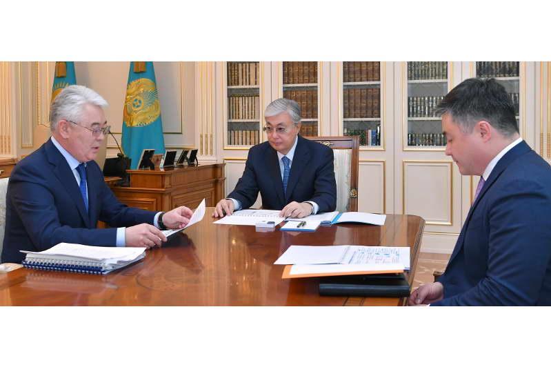 Токаев обсудил с главой мининдустрии вопросы обеспечения многодетных семей жильем