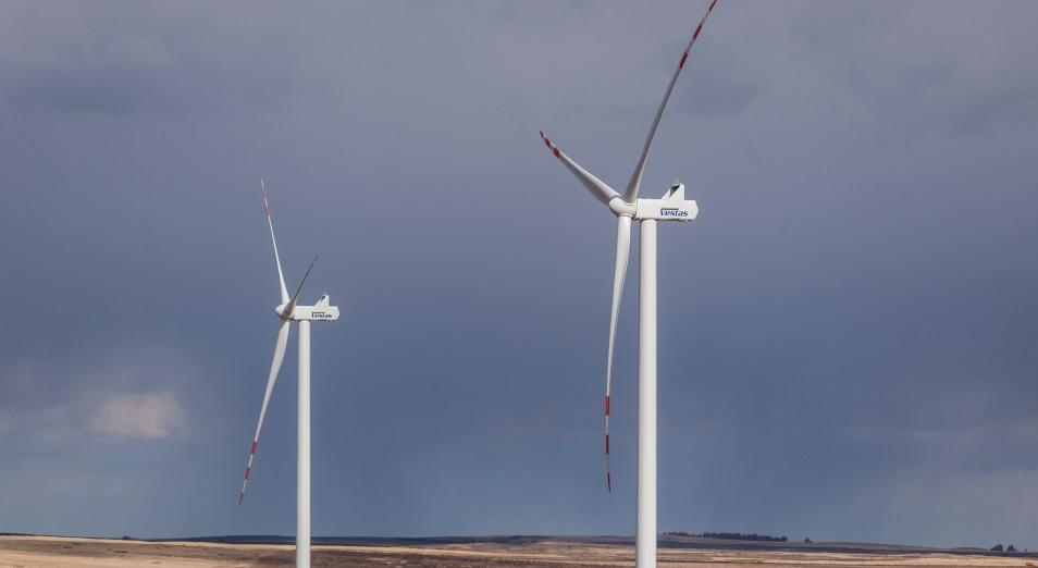 В Акмолинской области запущен первый пусковой комплекс на 50 мегаватт ветровой электростанции «Астана EXPO 2017» мощностью 100 мегаватт
