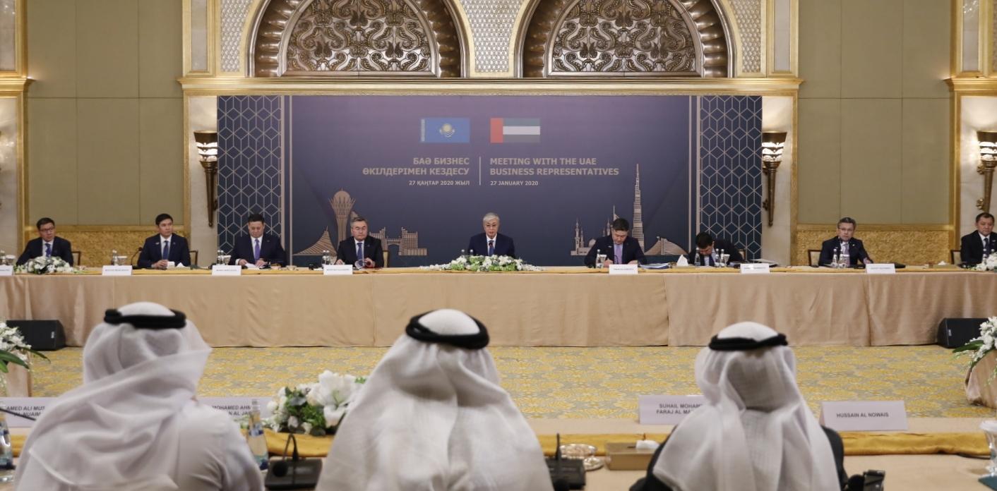 Президент БАӘ-нің бизнес өкілдері қатысқан жиында сөз сөйледі