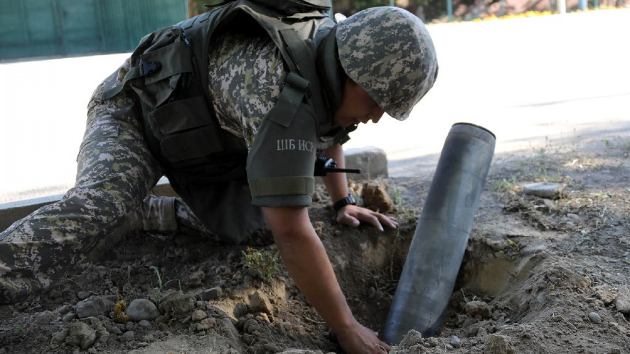 На полигоне близ Арыси сдетонировал боеприпас
