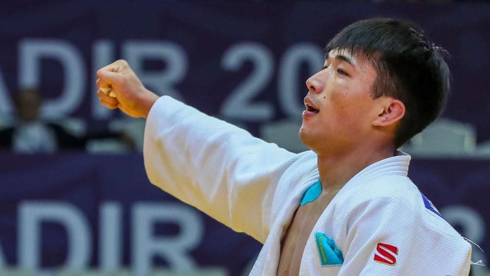 Гусман Кыргызбаев взял золото на Grand-Slam по дзюдо