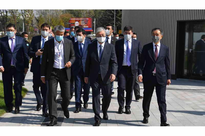 Мемлекет басшысы Алматының «Алмалы» демалыс аумағын аралап көрді