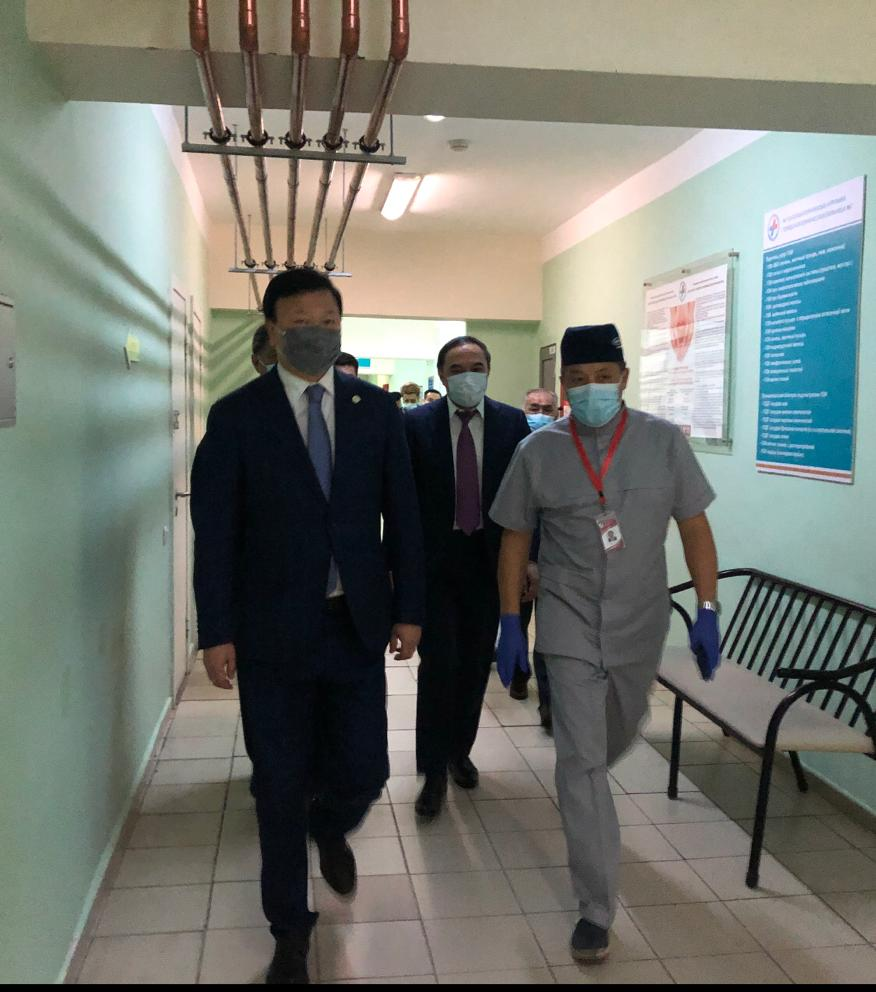 Денсаулық сақтау министрі Алматыдағы №7 ауруханаға барды