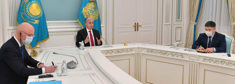 Глава государства встретился с главой АМТ Лакшми Митталом