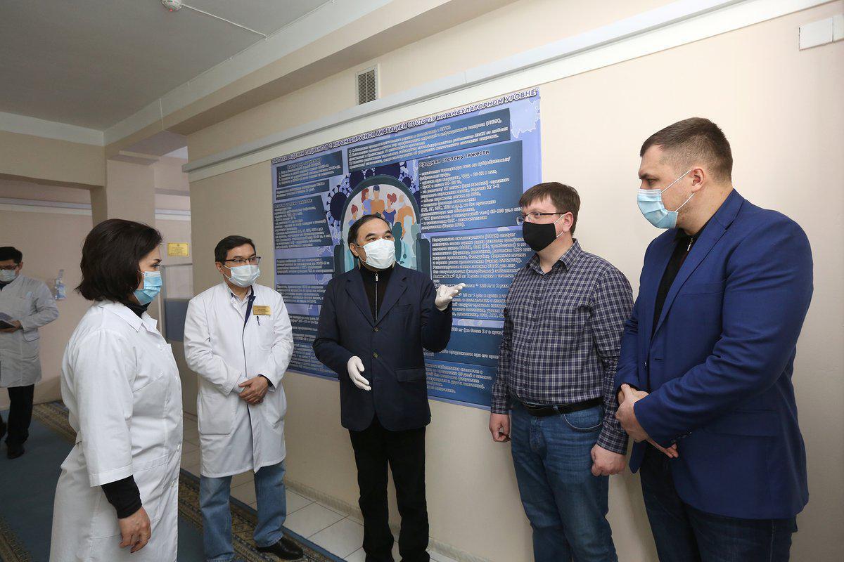 Коронавирус в Алматы: замакима посетил объекты здравоохранения