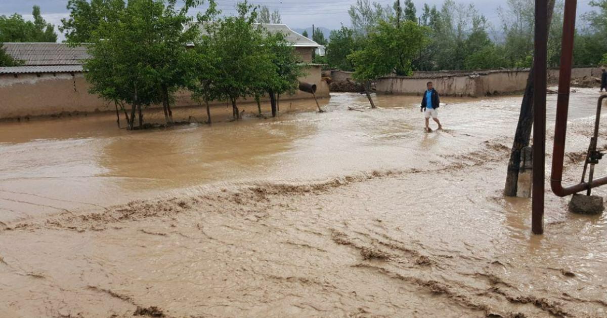 Селевые потоки на востоке Узбекистана подтопили сотни домов