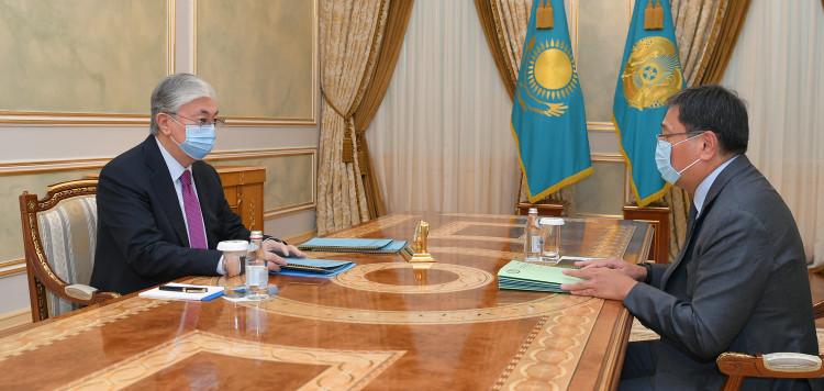 Ерболат Досаев рассказал президенту о реализации денежно-кредитной политики за I квартал