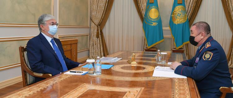 Главу государства проинформировали о криминогенной ситуации в стране