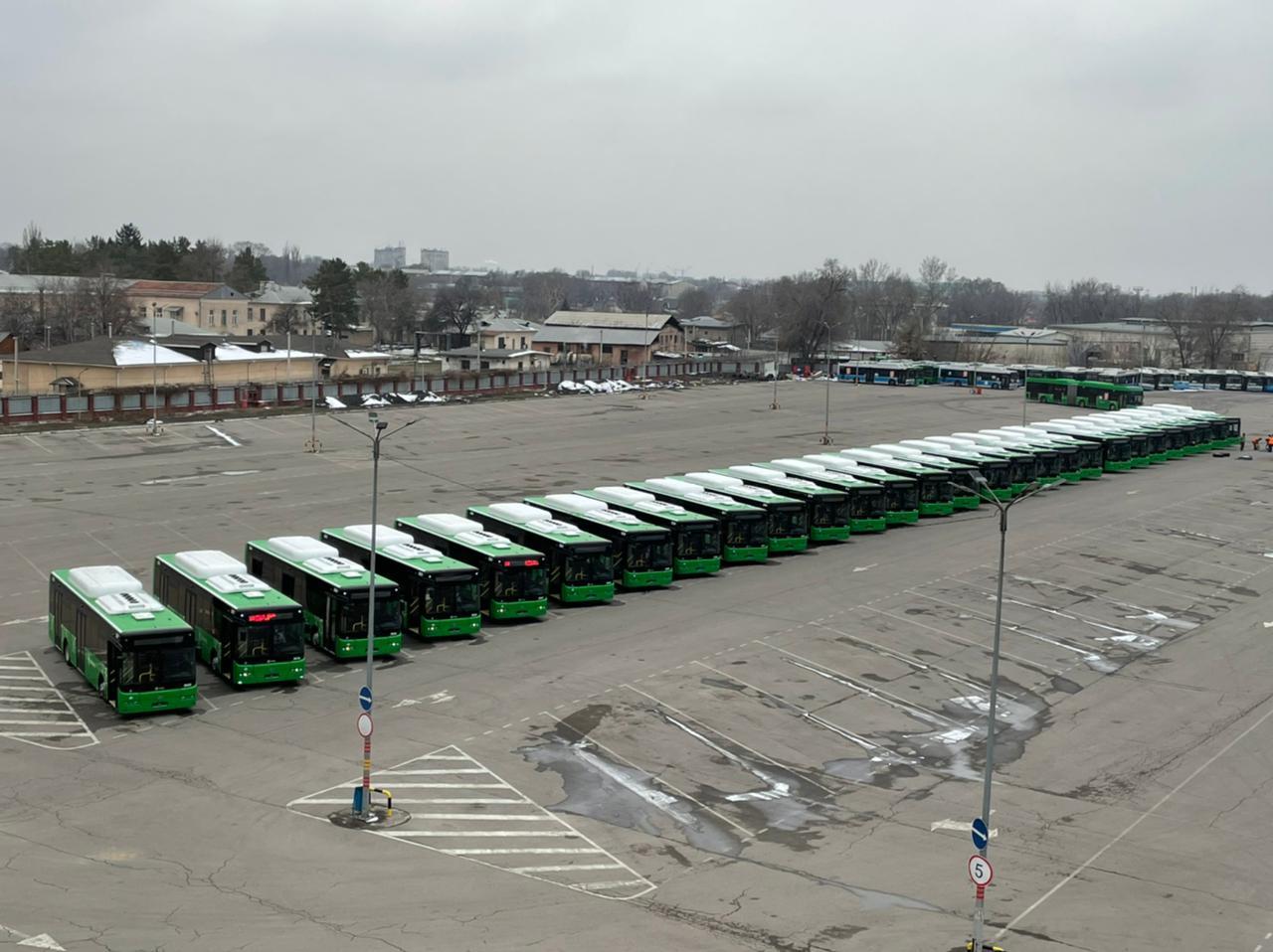 Алматының қоғамдық көлік паркі 37 жаңа автобуспен толықты