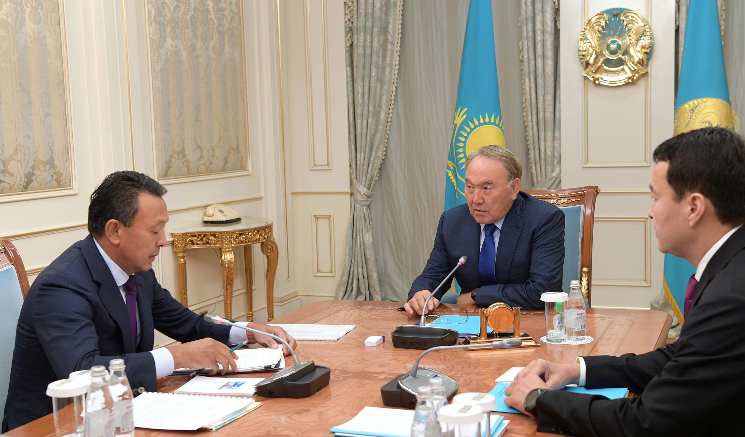 """Президент РК подчеркнул необходимость использования потенциала """"КМГ"""" для развития энергетики"""