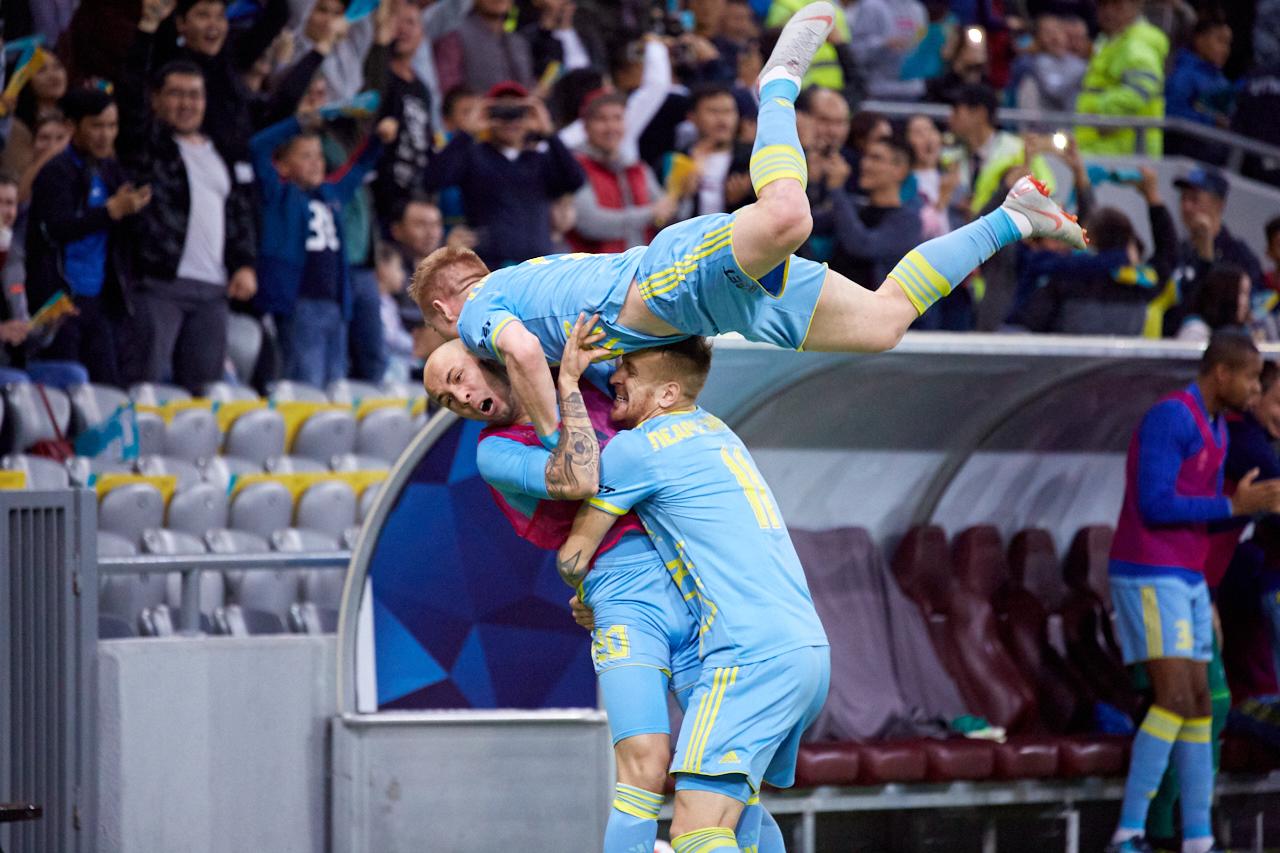 ФК «Астана» поднялся в рейтинге клубов УЕФА