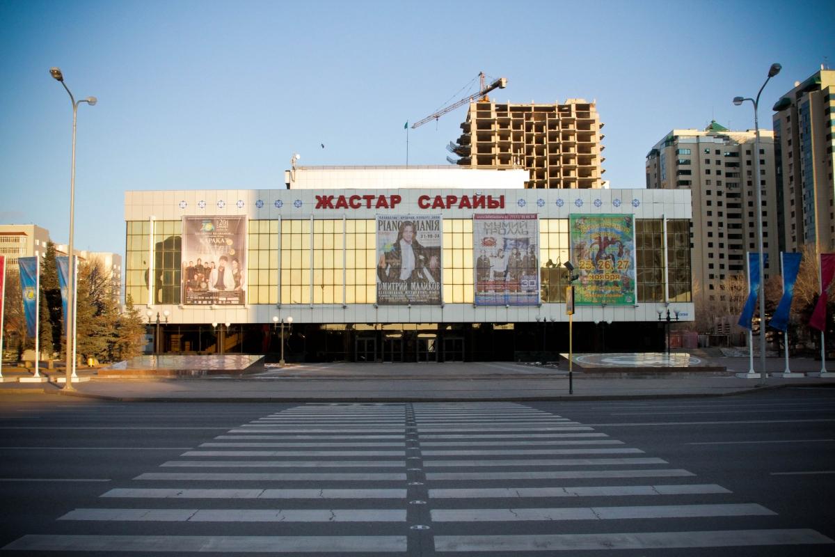 Здание театра задымилось в Астане