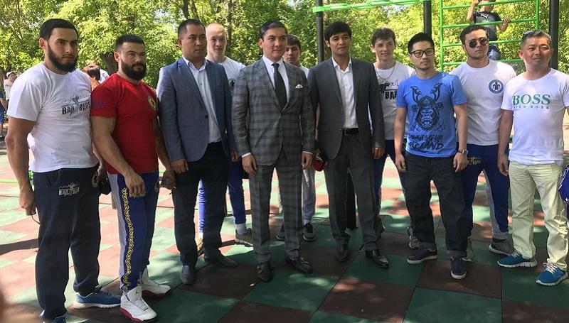 НОК Казахстана продолжает открывать площадки street workout по Казахстану