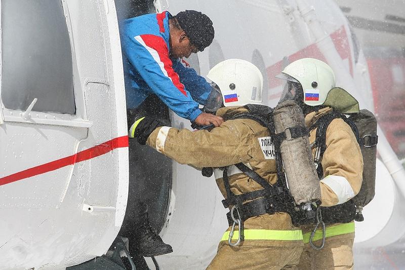 Спасатели Казахстана, России, Азербайджана и Туркменистана отработали совместные действия при ликвидации ЧС на Каспии