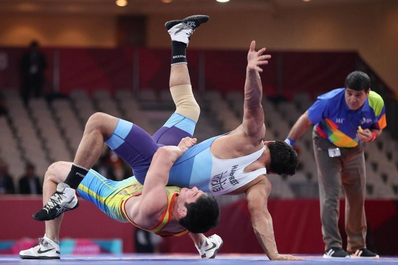 Борец Азамат Кустыбаев стал обладателем бронзовой медали на Азиаде-2018