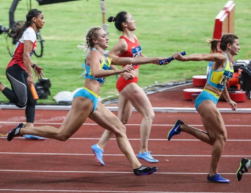 Женская эстафетная команда стала третьей в финале Азиады-2018