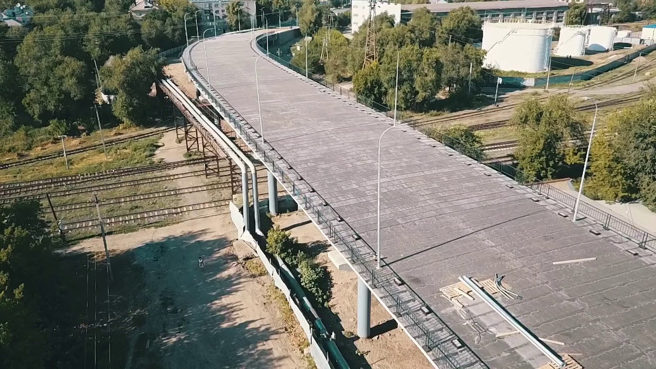 Строительство деповского моста в Уральске завершено