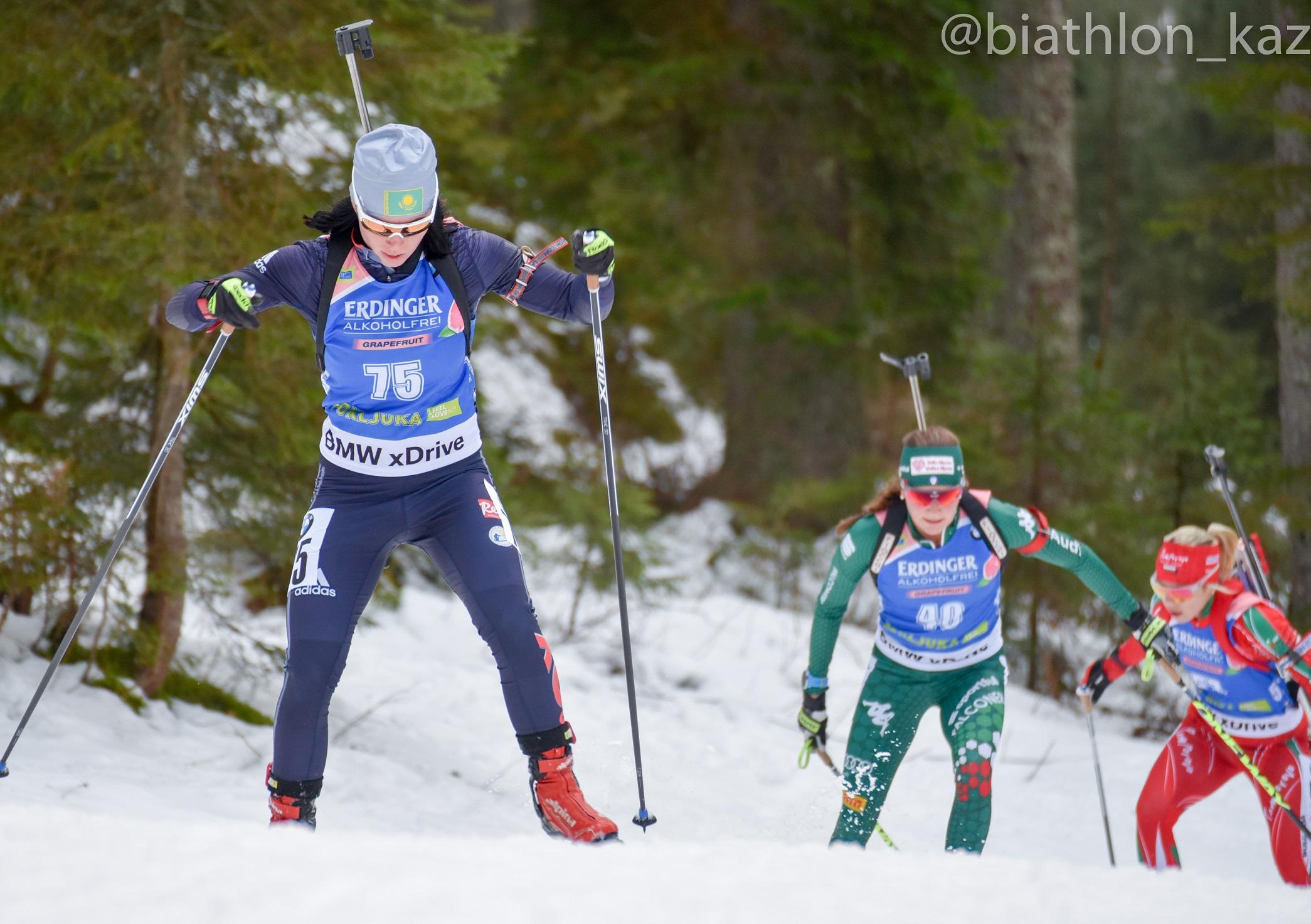 Казахстанские биатлонистки остались без наград на этапе индивидуальной гонки в Поклюке