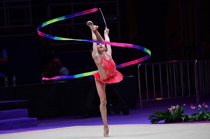 Айдана Шакенова завоевала серебро на ЧА по художественной гимнастике