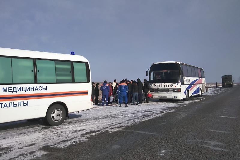 51 жолаушысысы бар автобус жолда қалған