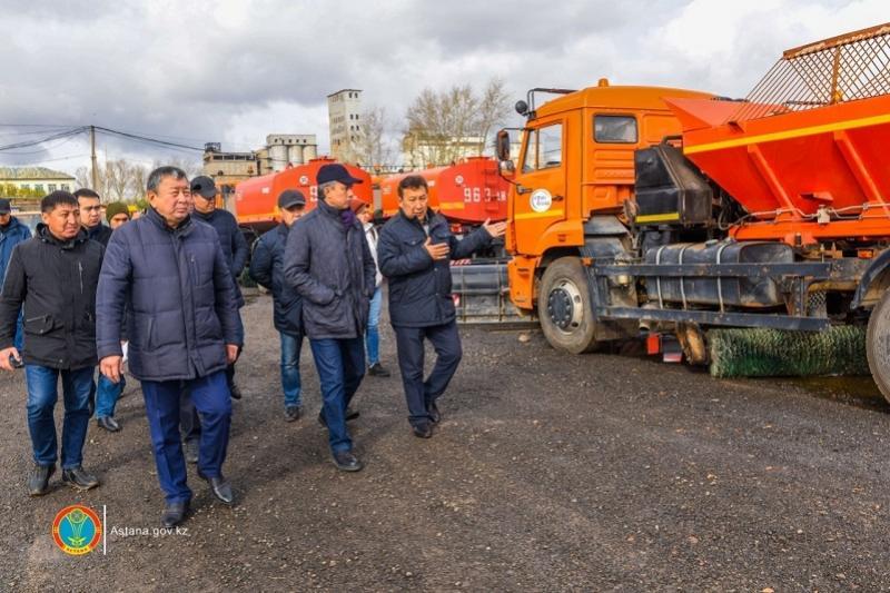 В Астане проверили готовность коммунальных служб к зиме