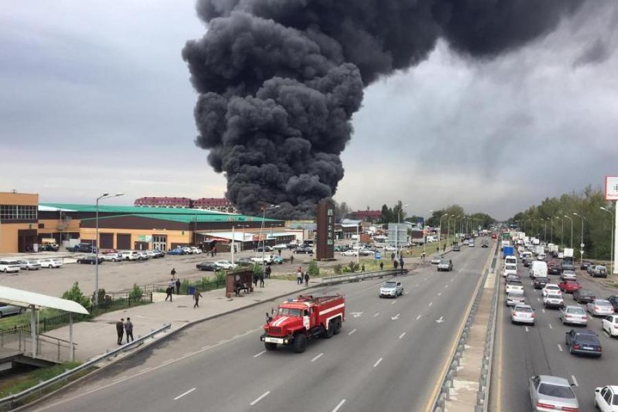 Последствия пожара на складе в Алматы: зафиксирован высокий уровень загрязнения воздуха