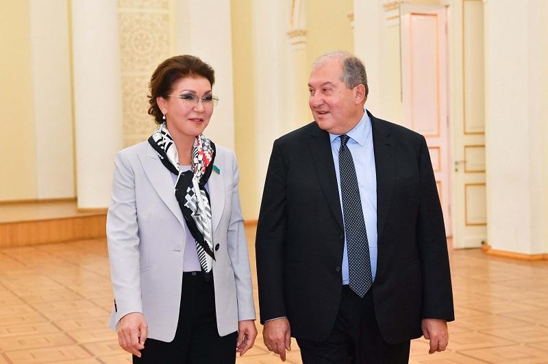 Дарига Назарбаева и Армен Саркисян договорились о новых направлениях сотрудничества между странами