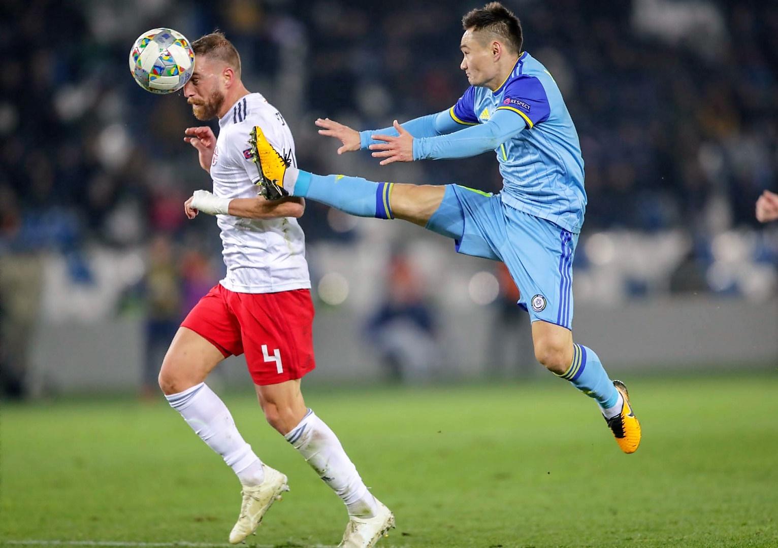 Казахстан проиграл Грузии в заключительном матче Лиги наций