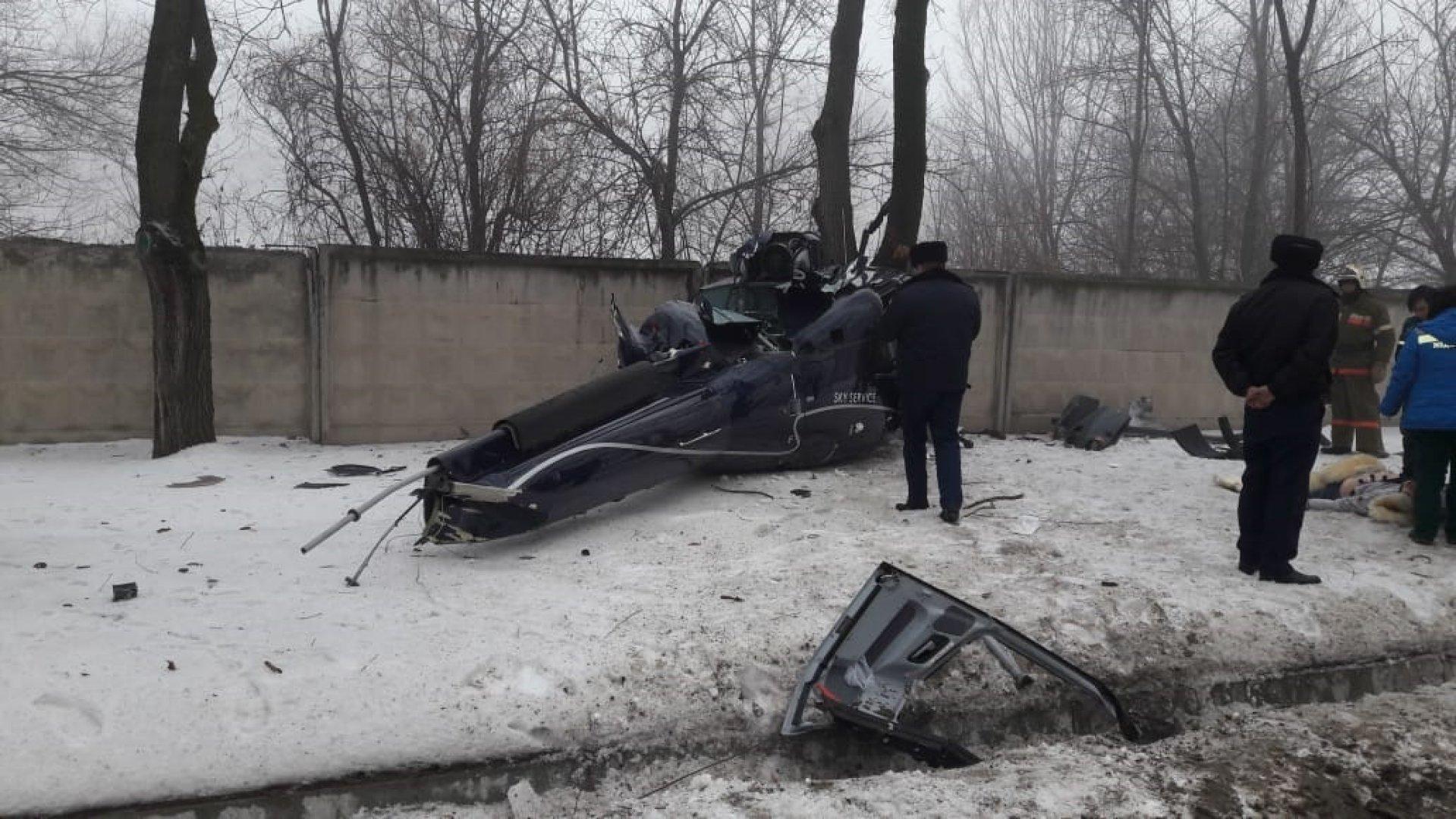 Найден чёрный ящик упавшего в Алматы вертолёта
