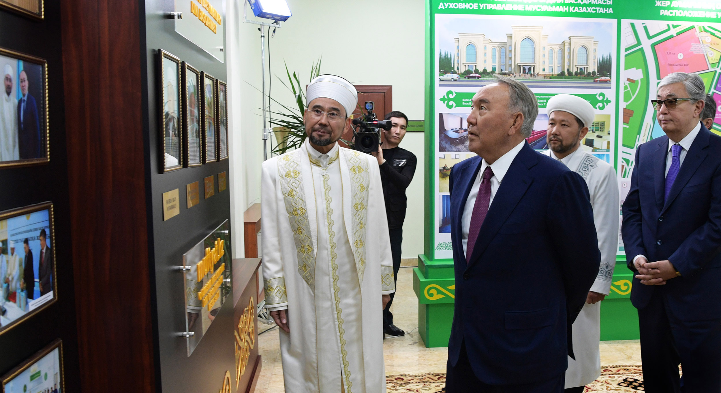 Нурсултан Назарбаев посетил новое здание Духовного управления мусульман Казахстана