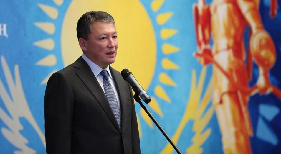 Глава НОК Казахстана Тимур Кулибаев вручил госнаграды спортсменам