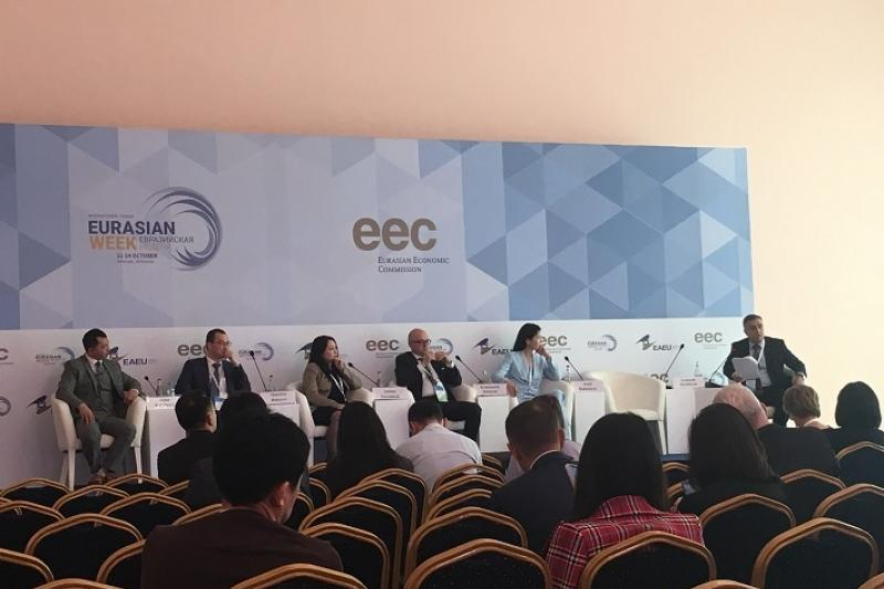Возможности МФЦА представили на Евразийской неделе в Ереване
