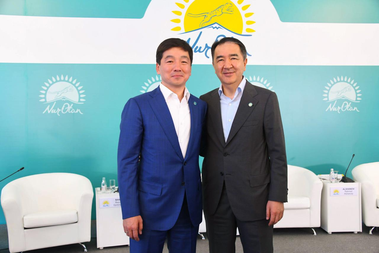Бакытжан Сагинтаев избран председателем городского филиала партии Nur Otan