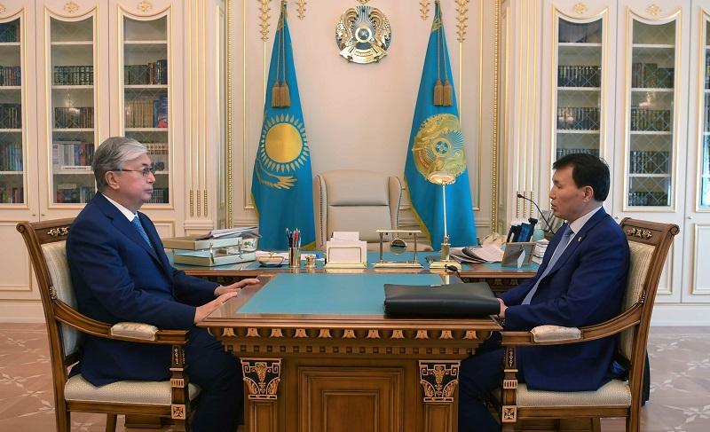 Шпекбаев Президентке 7 айда атқарылған жұмыстар туралы баяндады