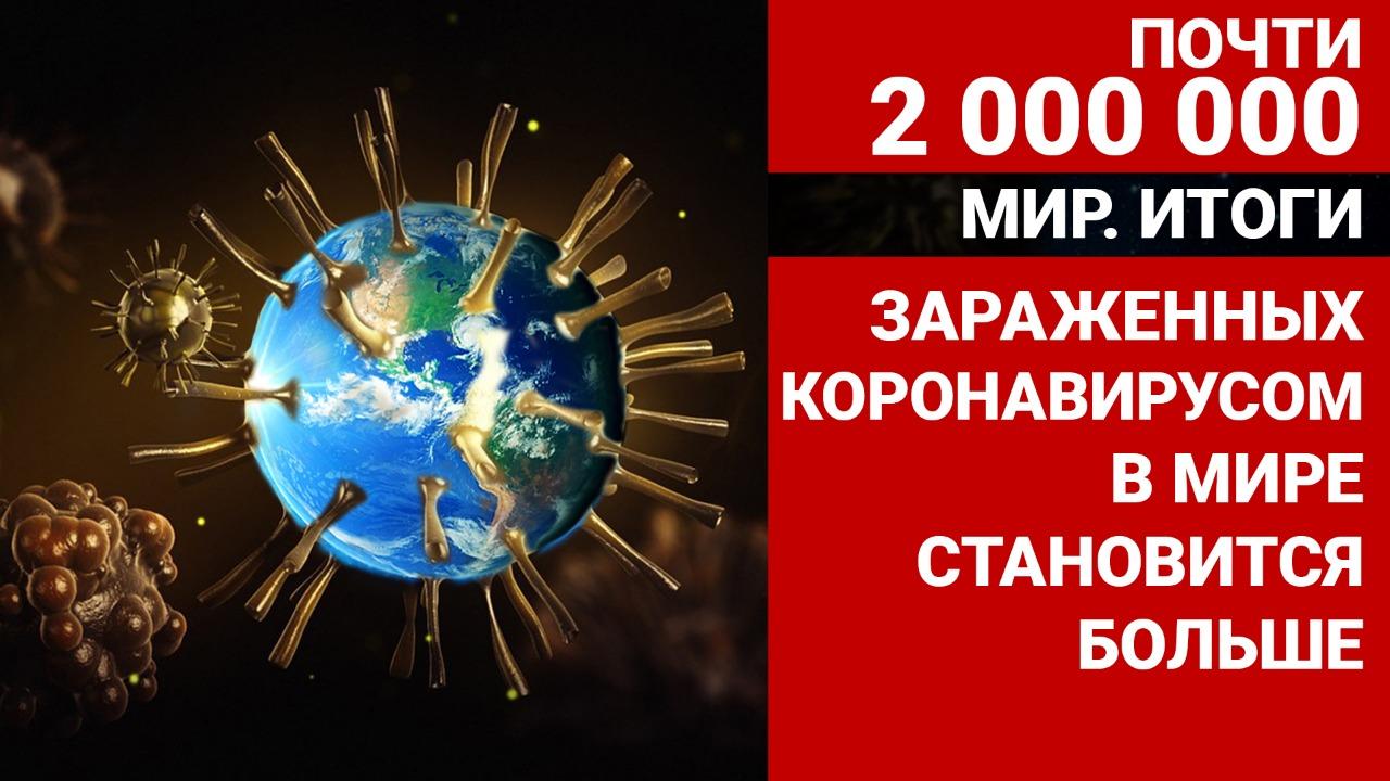 Почти два миллиона. Зараженных Covid-19 по всему миру становится больше.