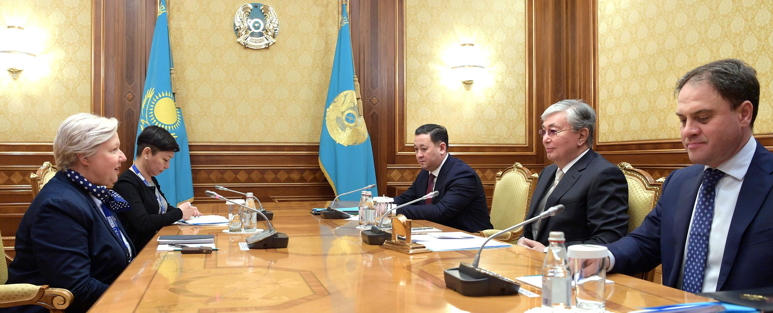 Касым-Жомарт Токаев принял главу миссии наблюдателей БДИПЧ ОБСЕ Уршулу Гацек