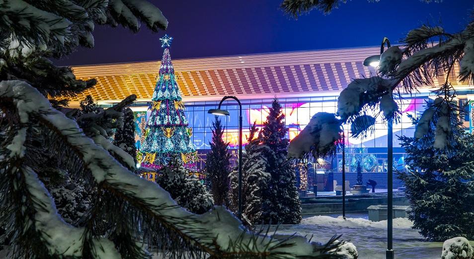 Как украсился город Алматы в преддверии Нового года