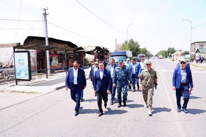 Инфраструктура и жилой фонд города Арыси будут восстановлены в течение одного месяца