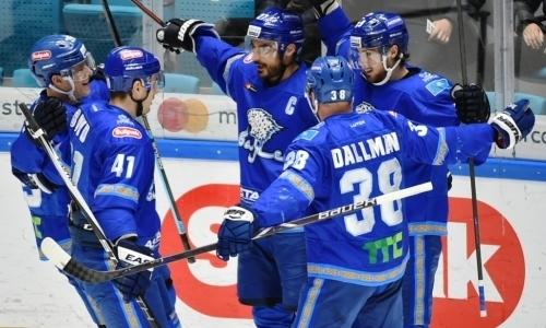 Барыс одержал шестую победу в турнире КХЛ