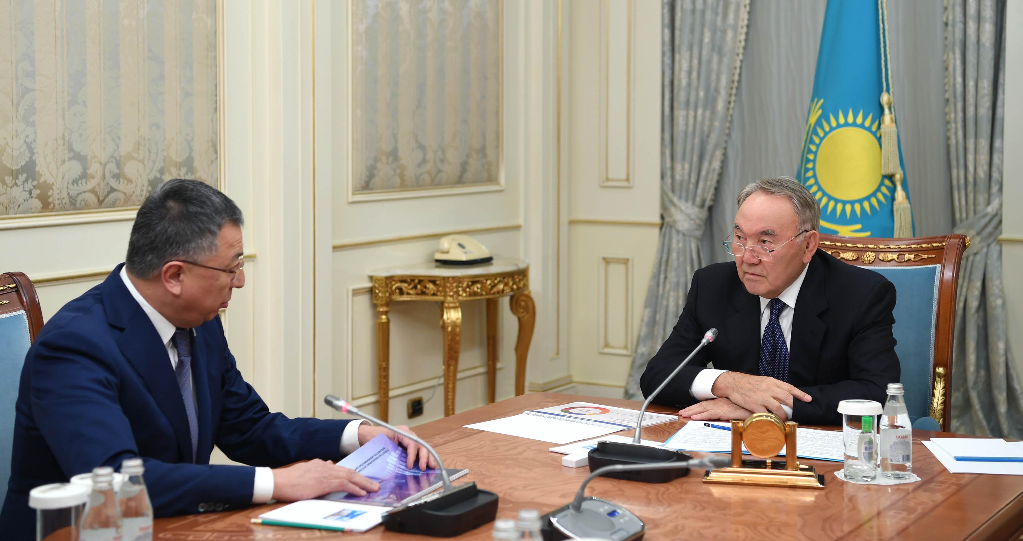 Нұрсұлтан Назарбаев Түймебаевқа құрылыс қарқынын бәсеңдетпеуді тапсырды