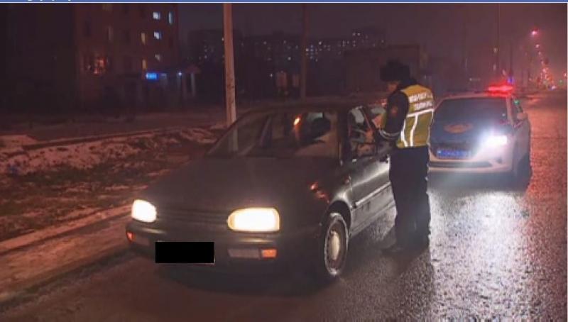 За три дня на дорогах Астаны выявлено 40 пьяных водителей