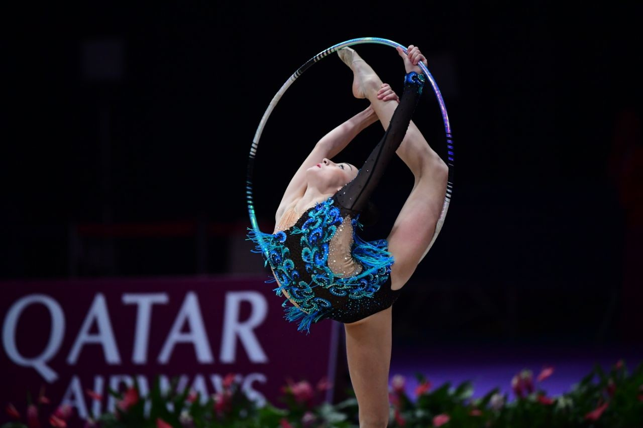 Казахстанские гимнастки завоевал право выступить на лицензионном ЧМ